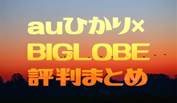 auひかり×BIGLOBEはキャッシュバックが優秀だけど意外な落とし穴も! | ヒカリCOM