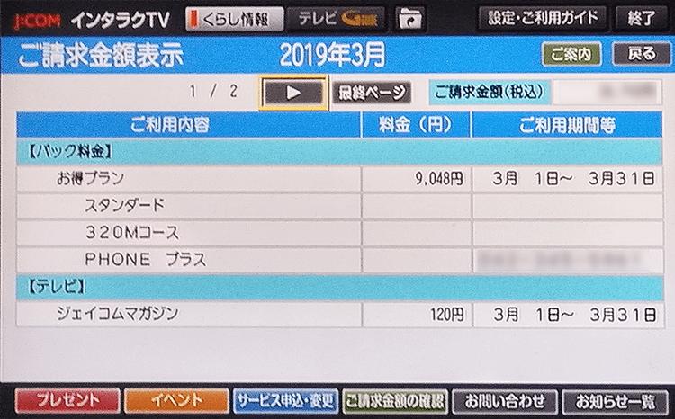 インタラクTV明細