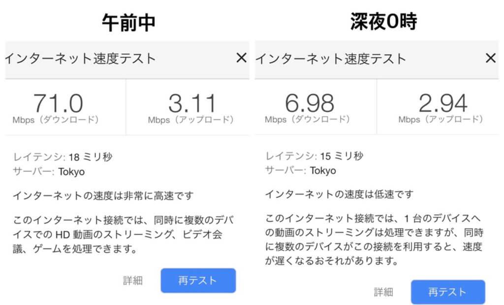 SoftBank Air速度