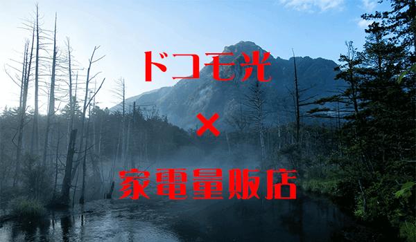 ドコモ光×家電量販店のキャンペーン