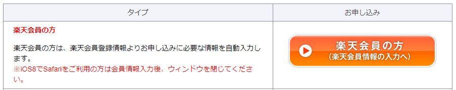 楽天アカウントログイン画面