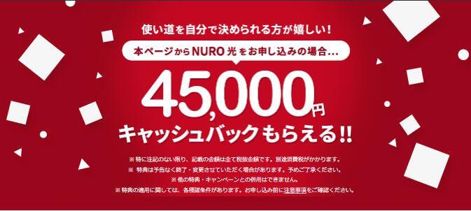 NURO光公式キャンペーンサイト