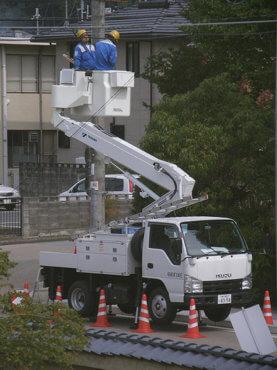 高所作業車による屋外作業