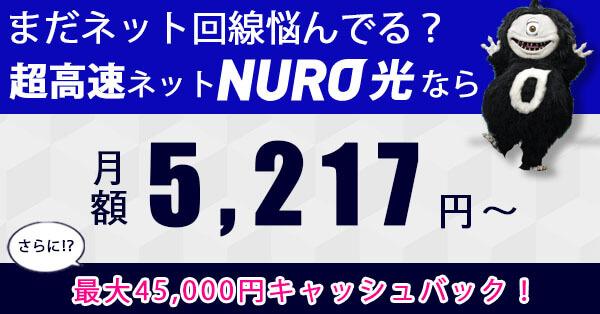 NURO光 フッターバナー